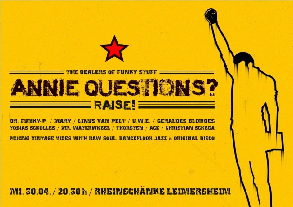 Live @ Rheinschänke Leimersheim am 30.04.2014, 20:30 Uhr   Annie ...