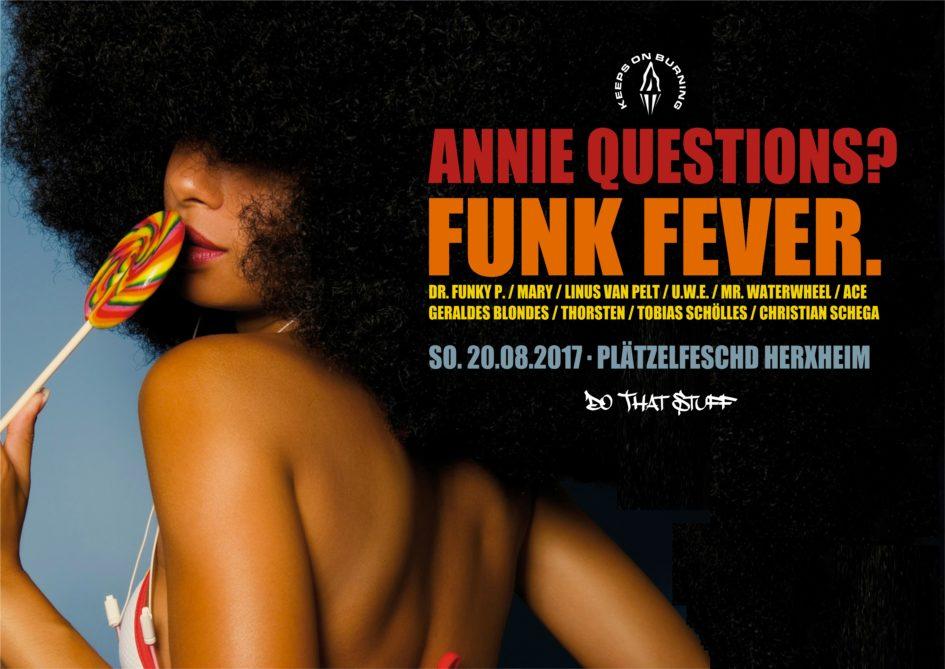 (Annie Questions) Funk Fever (20.08.2017 - Plätzelfeschd Herxheim) with Logo III